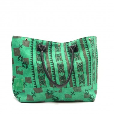 Bolso India Verde frontal