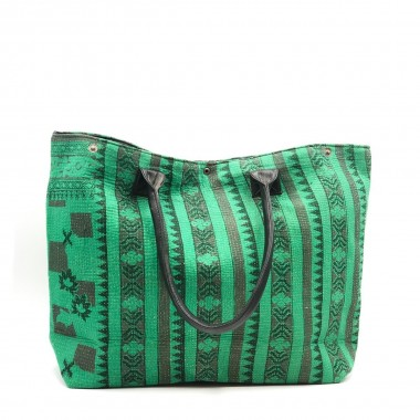 Bolso India Verde frontal 2