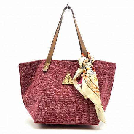 Bolso Shopper Lima Granate con complemento