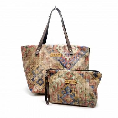 Conjunto bolso shopper + cartera Rabat frontal