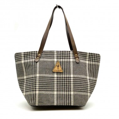 Bolso Shopper Gales Blanco y Negro Frontal